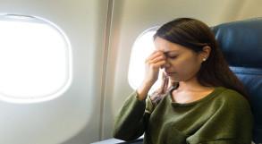 Mulher com fobia de avião