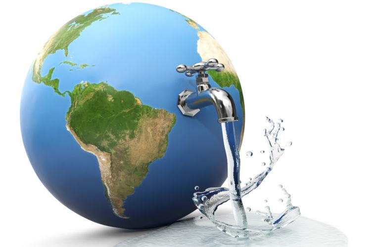 A água no planeta não é distribuída uniformemente, variando de acordo com as regiões e a existência dos ecossistemas.