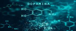 Desenho da fórmula da dopamina