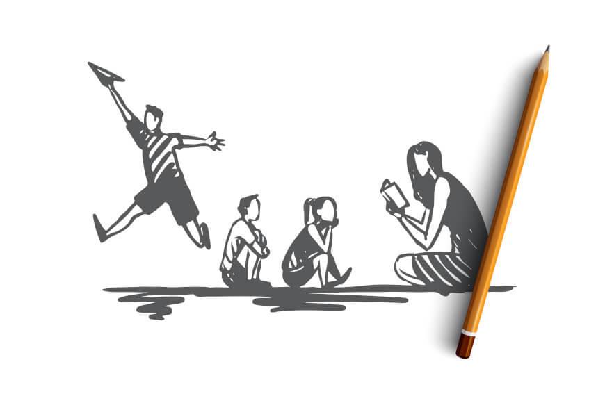 O indivíduo que apresenta a hiperatividade não consegue permanecer muito tempo sentado para realização de atividades escolares ou mesmo de lazer.