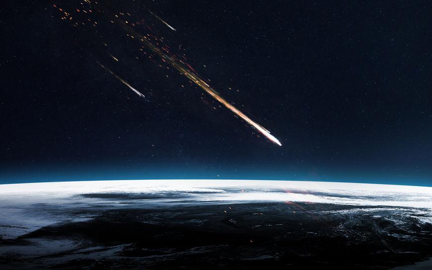 A panspermia postula que a vida foi trazida para a Terra por meio de meteoros.