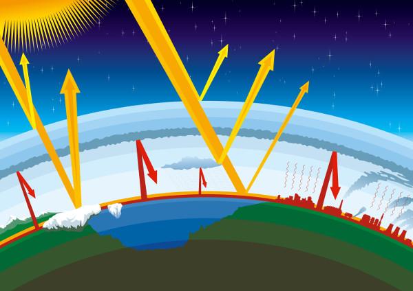 O efeito estufa é um fenômeno natural que pode ser agravado com a emissão de gases de efeito estufa na atmosfera.