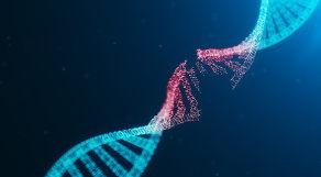 Ilustração de DNA rompido, em sinalização à mutação