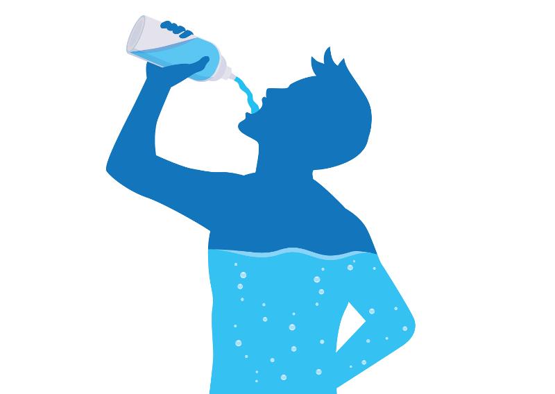 A água constitui cerca de 70% do nosso organismo e o seu consumo é essencial para o  bom funcionamento dele.
