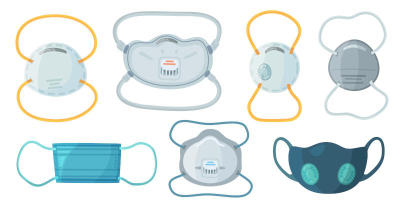 A eficácia das máscaras de proteção está relacionada também à escolha adequada diante do que se quer evitar o contato.