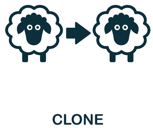 Os clones originam-se a partir de uma única célula, apresentando, assim, as mesmas características de seu progenitor.