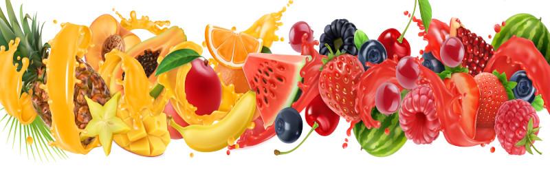 As frutas apresentam sabor adocicado, aroma característico e são ricas em suco.