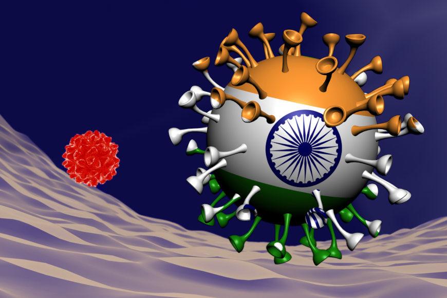 A variante delta foi detectada pela primeira vez na Índia.