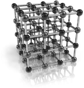 O reticulado cristalino é formado por um número muito grande de átomos do metal