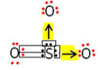 Exemplo do trióxido de enxofre que possui duas ligações dativas