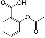 Fórmula do ácido acetilsalicílico