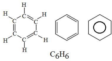 Fórmulas de um anel aromático