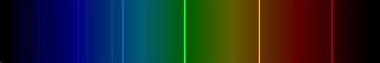 Espectro de emissão do elemento lítio (Li)