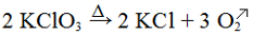 Exemplo de equação química com aquecimento e desprendimento de gás