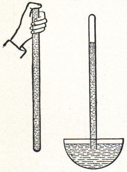 Experimento de Torricelli com tubo de mercúrio para determinar a pressão atmosférica
