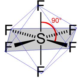 Geometria octaédrica para molécula com sete átomos