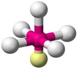 Geometria Pirâmide Quadrada para molécula com seis átomos