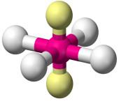 Geometria quadrado planar para molécula com cinco átomos