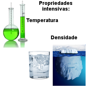 A temperatura e a densidade são propriedades intensivas
