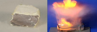 O sódio metálico é sólido e altamente reativo