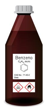 O benzeno era muito usado como solvente orgânico