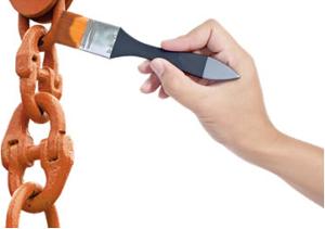 O zarcão é o tetróxido de chumbo, um óxido duplo usado na proteção do ferro