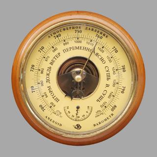 Barômetro que mede a pressão atmosférica