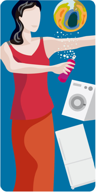 Os CFCs são produzidos principalmente para serem usados em produtos do tipo spray e em compressores para refrigeração doméstica