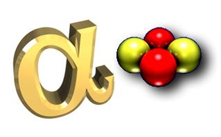 A emissão alfa é constituída de dois prótons e dois nêutrons