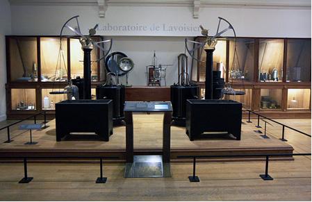 Laboratório de Lavoisier, Musée des Arts et Métiers, em Paris[2]