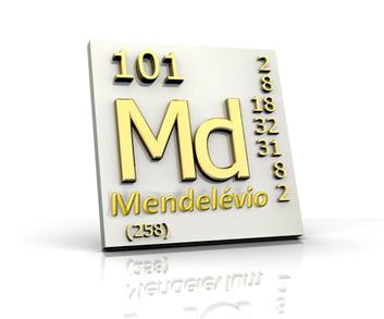 Elemento que recebeu o nome de Mendelévio em homenagem a Mendeleiev