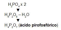 Formação do ácido pirofosfórico