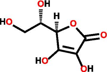 Essa é a estrutura da vitamina C