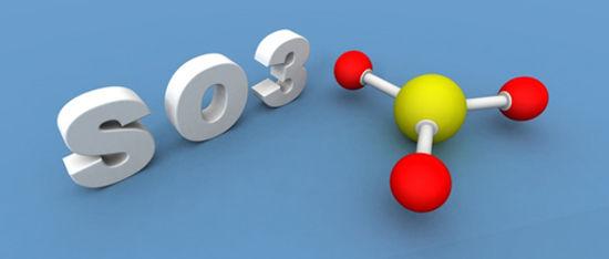 O trióxido de enxofre é formado quando o dióxido de enxofre sofre combustão sem a presença de arsênio