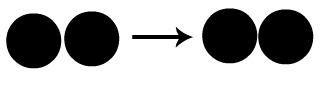 Colisão não favorável entre átomos de uma molécula diatômica