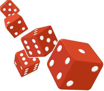 A probabilidade em Genética segue as mesmas regras de probabilidade de um jogo de dados