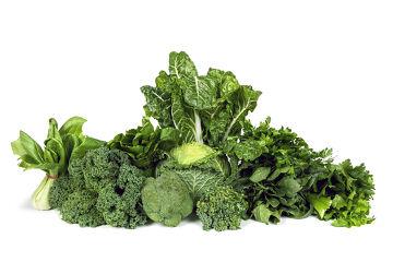Uma das fontes de vitamina B9 são os vegetais folhosos